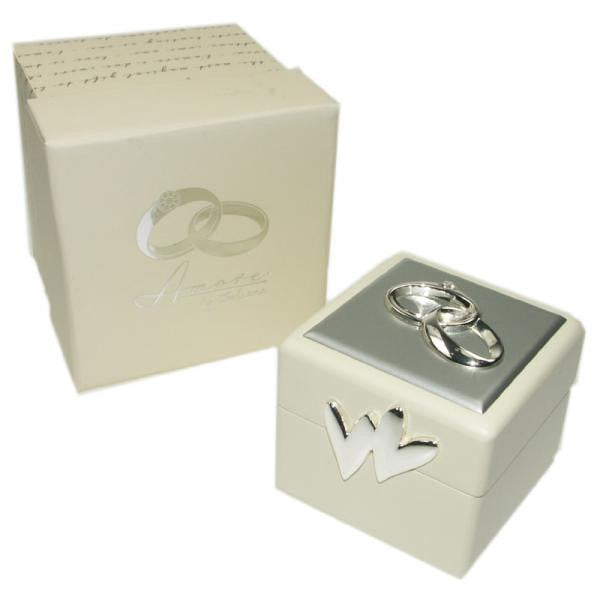 Wedding Ring Box with Decoarations and Crystals - Wedlock Shop