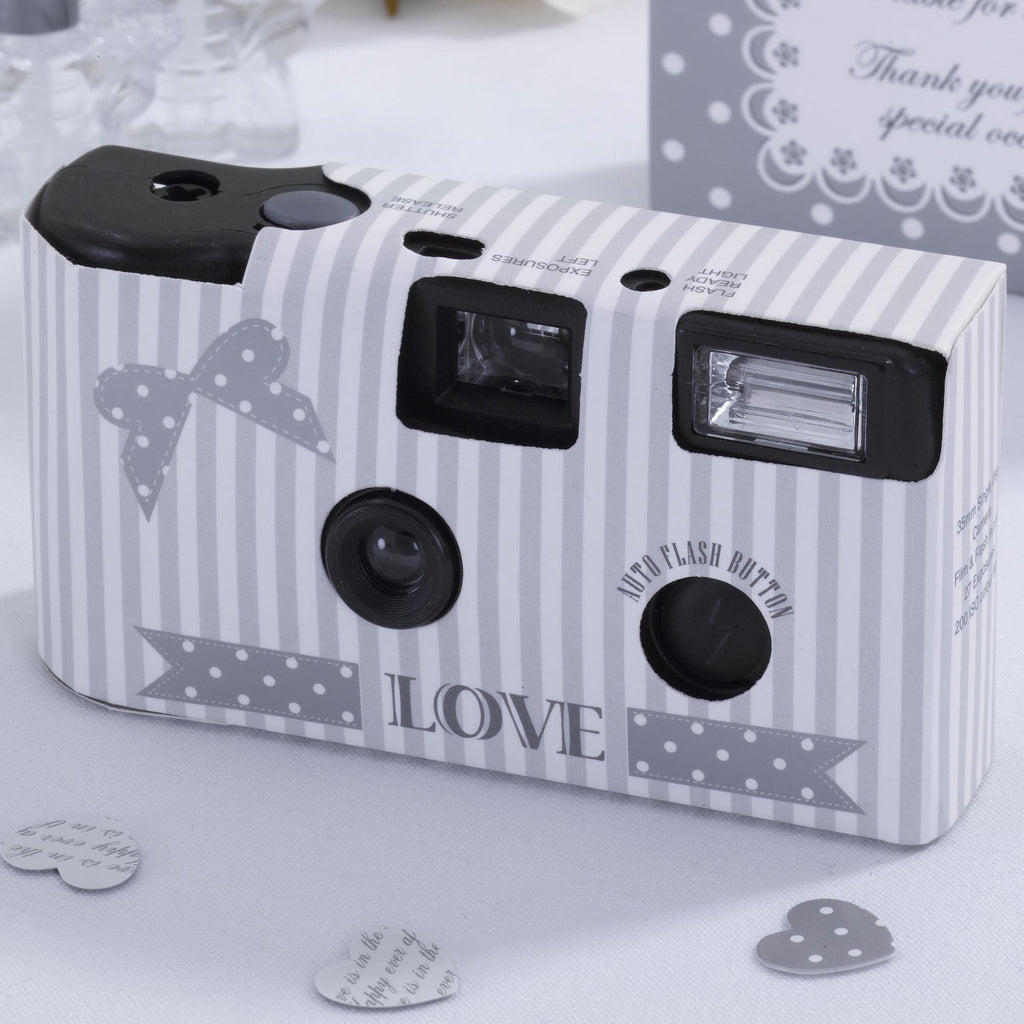 White & Silver Disposable Camera - Chic Boutique - Wedlock Shop