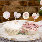 With Love Design Cupcake Picks - Wedlock Shop
