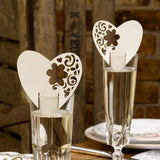 With Love Design Laser Cut Ivory Place Cards - Wedlock Shop
