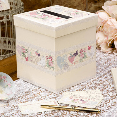 With Love Design Wedding Wishes Box - Wedlock Shop