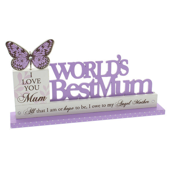 World's Best Mum Mantel Plaque - Wedlock Shop