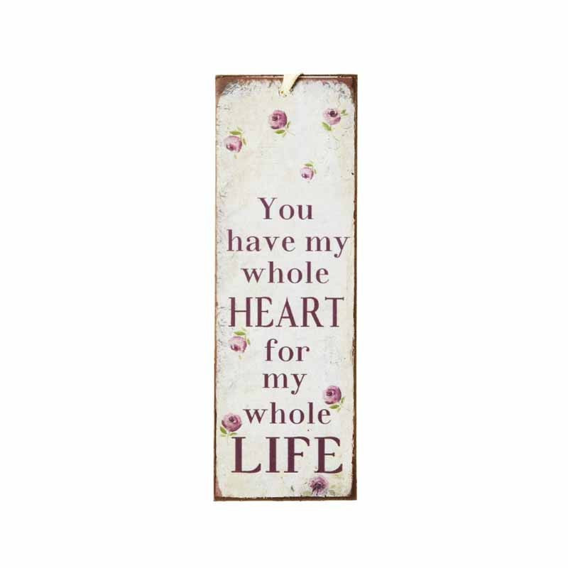 You Have My Whole Heart Mini Metal Sign - Wedlock Shop - 1