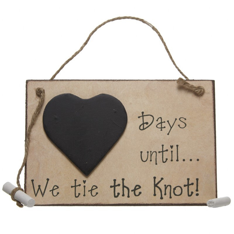 Days Until We Tie The Knot Chalkboard - Wedlock Shop - 2