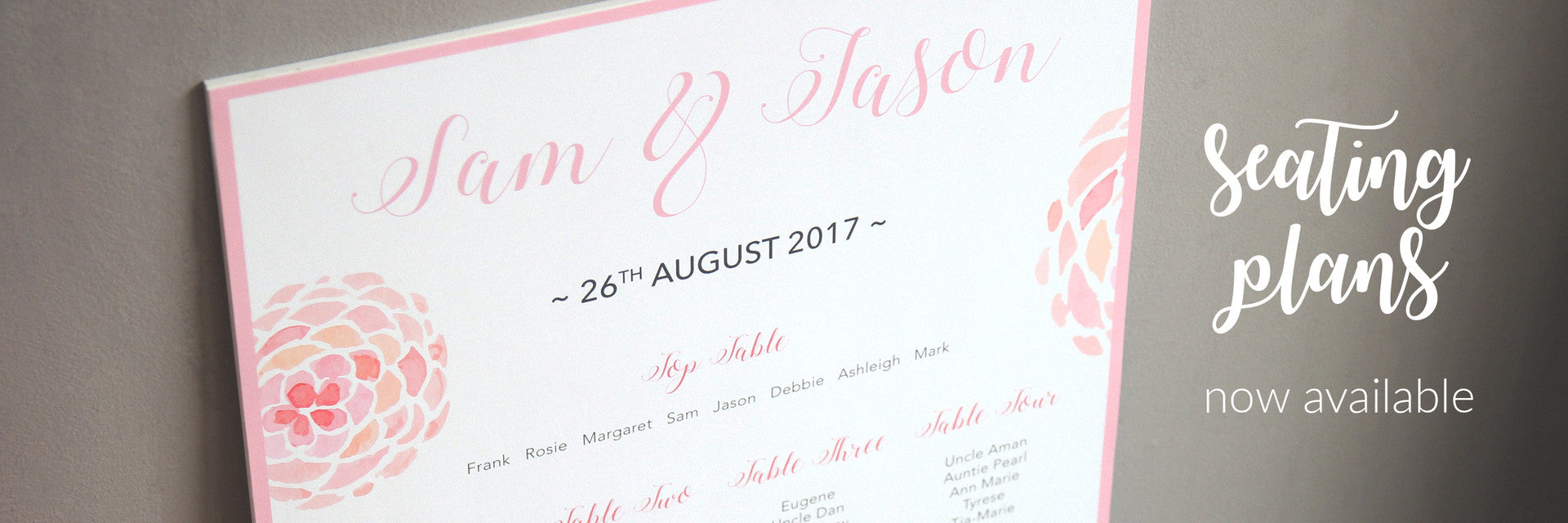 Personalised Wedding Seating Plans
