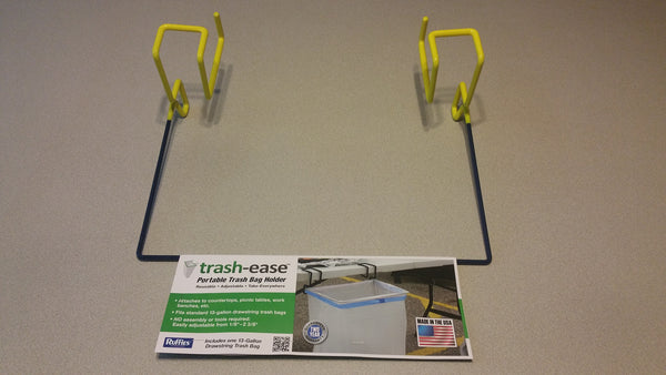 13 Gallon Trash-Ease Table Version BLUE frame and YELLOW rubber dip  05091