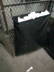 33 Gallon Fence  in Black & Black