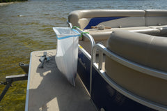 13 Gallon Trash-Ease Pontoon  version WHITE frame and GREEN rubber dip 1 inch 05190
