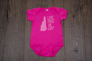 Live Free or Cry Onesie