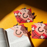 Smarty Cow Bookmark Red Packet (Pack of 4) 叻叻牛書籤利是封 (四個裝)