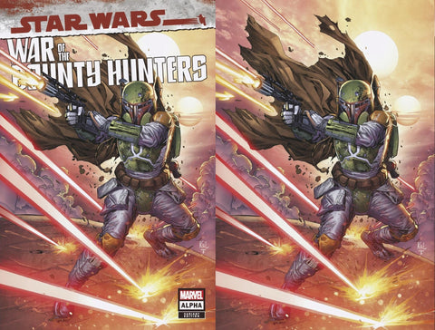 Star Wars: War of the Bounty Hunters #1 - Lashley 2 Cover Set - LTD 666 - Late May