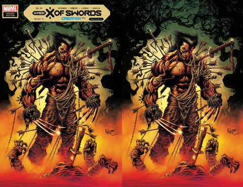 X of Swords Creation #1 - Kyle Hotz 2 Cover Set - LTD 1500