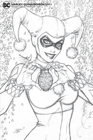 Harley Quinn Poison Ivy #1 - McTeigue Sketch Variant - LTD 1500