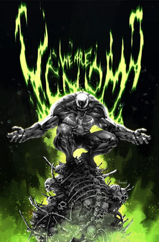 Venom #30- Kael Ngu B&W Virgin Cover - LTD 1000