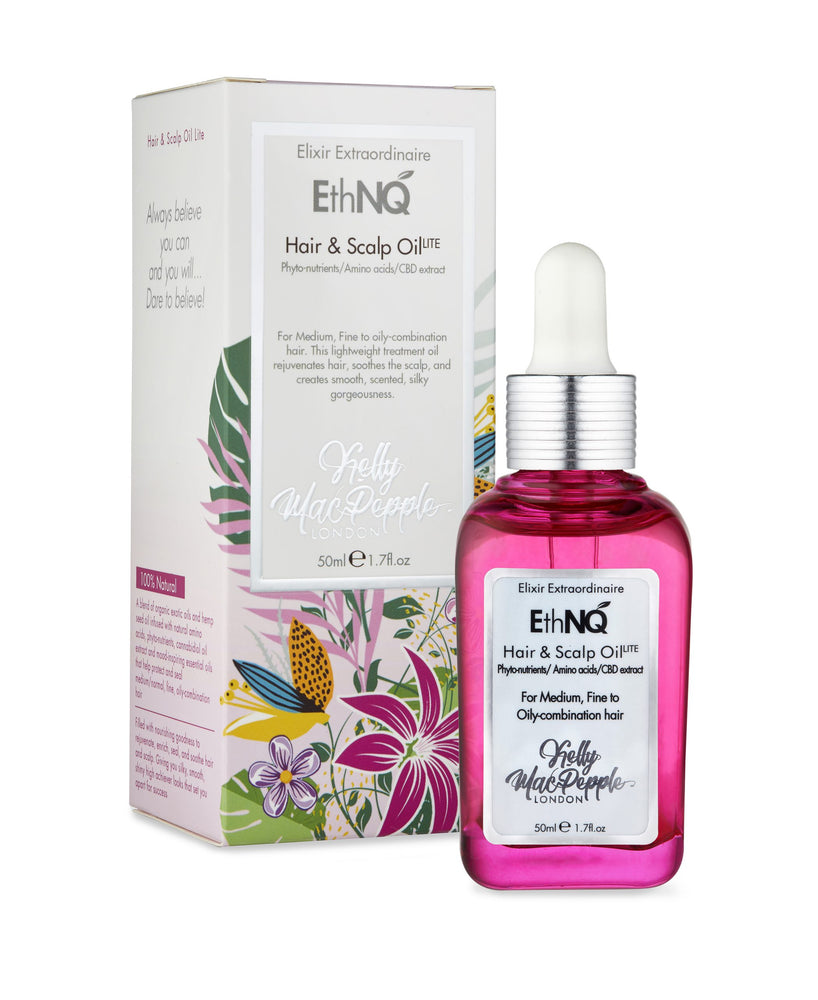 EthNQ Elixir Extraordinaire Hair and Scalp Oil Lite