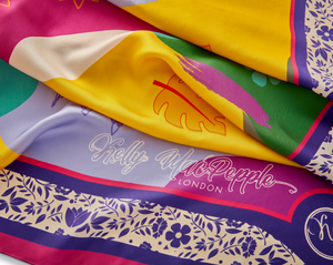 Load image into Gallery viewer, Burst of Colour Silk Square Scarf