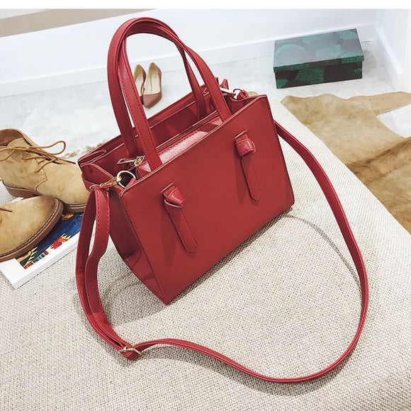 Red Boxy Satchel
