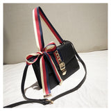 Double Strap Purse with Ribbon Detail