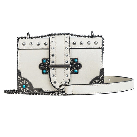 Boho Chic White Crossbody