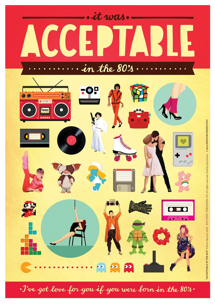 Acceptable In The 80's Art Print - Draw Me a Song