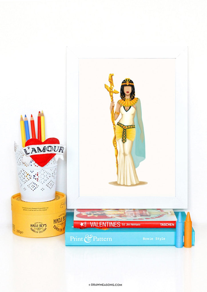 Cleopatra Art Print - Draw Me a Song