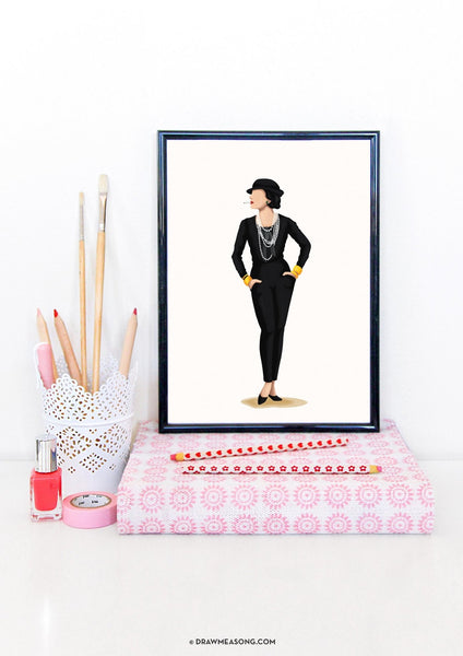 Coco Chanel Art Print - Draw Me a Song