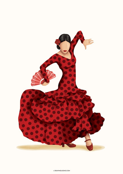 Flamenco Art Print - Draw Me a Song
