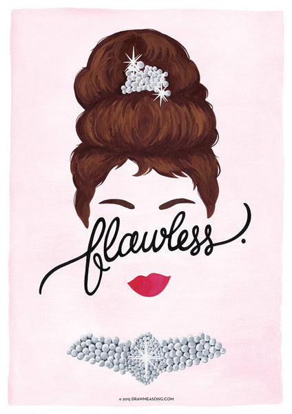 Flawless 'Audrey' Art Print - Draw Me a Song