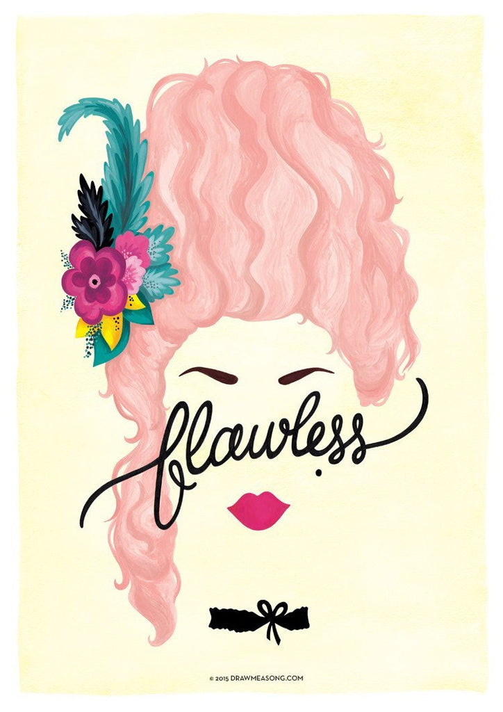 Flawless 'Marie Antoinette' Art Print - Draw Me a Song