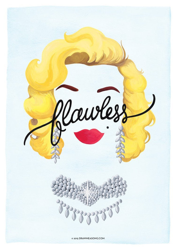 Flawless 'Marilyn' Art Print - Draw Me a Song