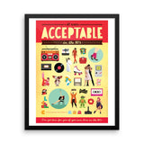 FRAMED Acceptable in the 80s Art Print - Draw Me a Song