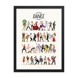 Framed Everybody Dance Now Art Print - Draw Me a Song