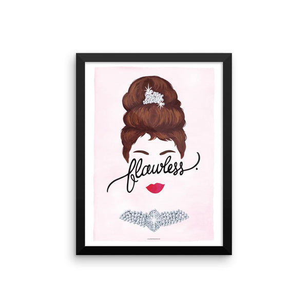 FRAMED Flawless Audrey Art Print - Draw Me a Song