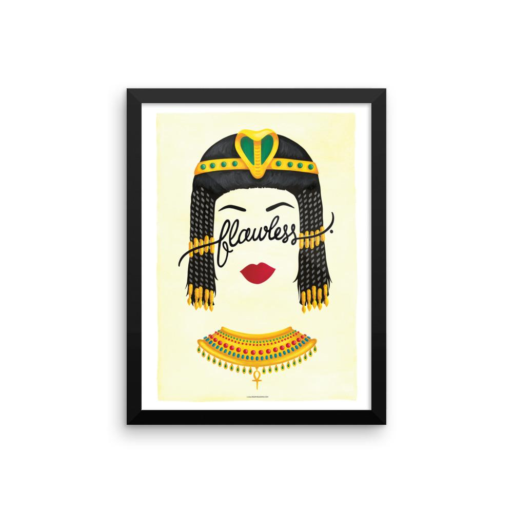 FRAMED Flawless Cleopatra Art Print - Draw Me a Song