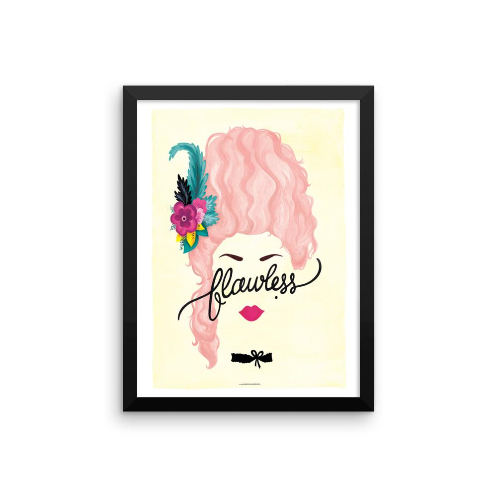 FRAMED Flawless Marie Antoinette Print - Draw Me a Song