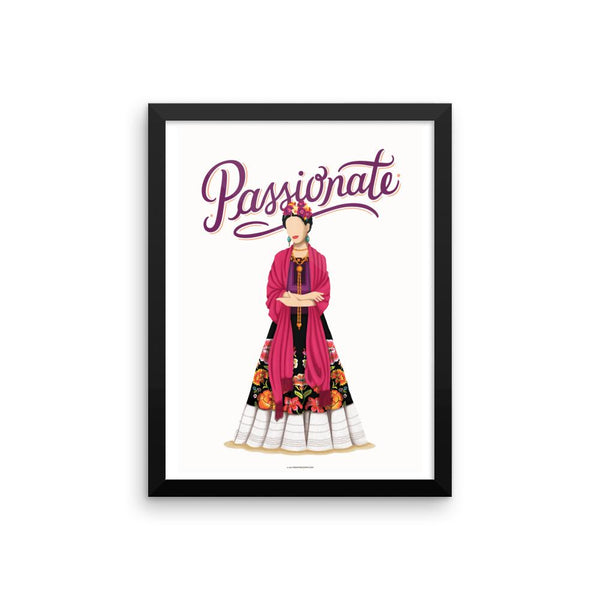 FRAMED Frida Passionate Art Print - Draw Me a Song