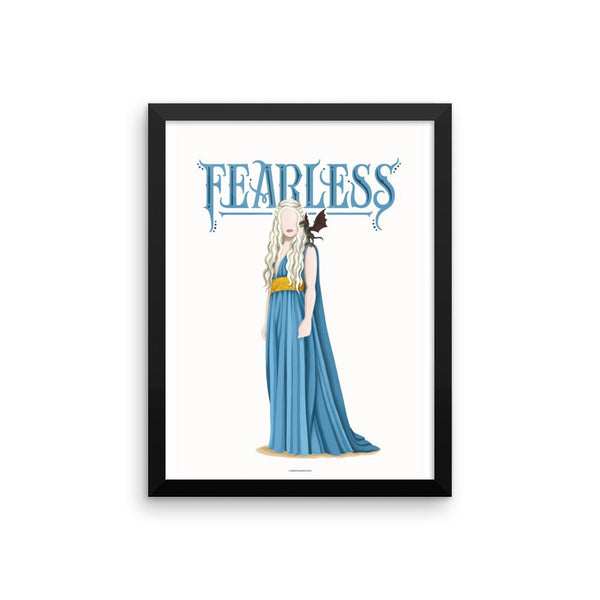 FRAMED Khaleesi Fearless Poster - Draw Me a Song