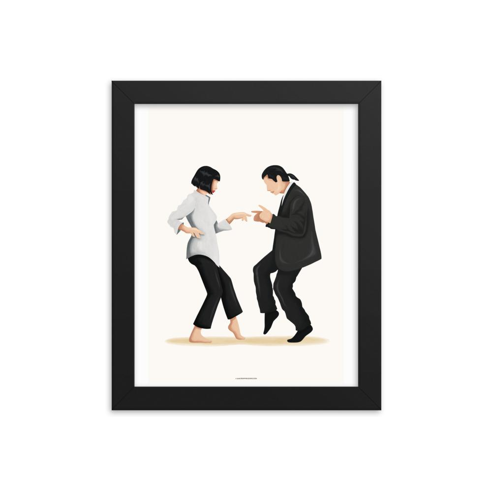 Framed Pulp Fiction Twist Dance Art Print - Draw Me a Song