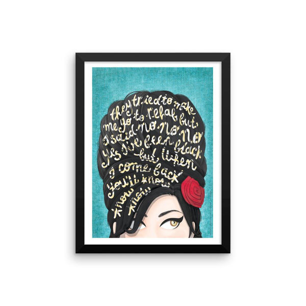 FRAMED Rehab Amy Winehouse Print - Draw Me a Song