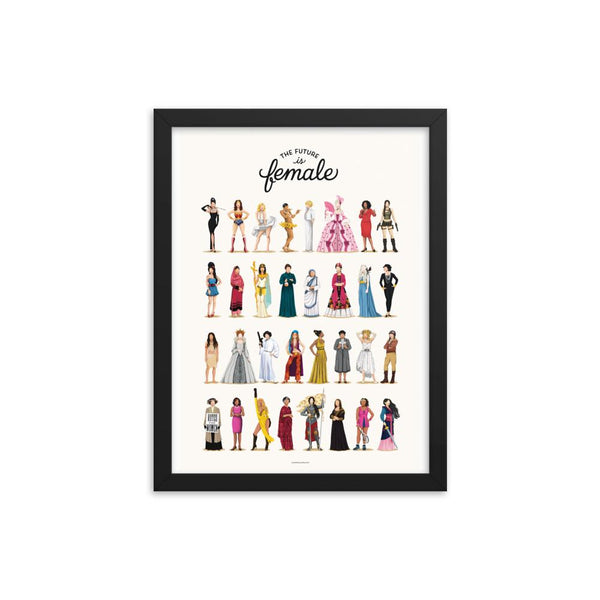 FRAMED The Future is Female Art Print - Draw Me a Song