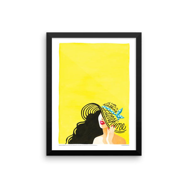 FRAMED Walking on Sunshine Print - Draw Me a Song