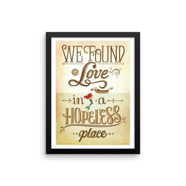 FRAMED We Found Love Print - Draw Me a Song