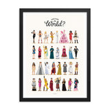 FRAMED Who Run the World Art Print - Draw Me a Song