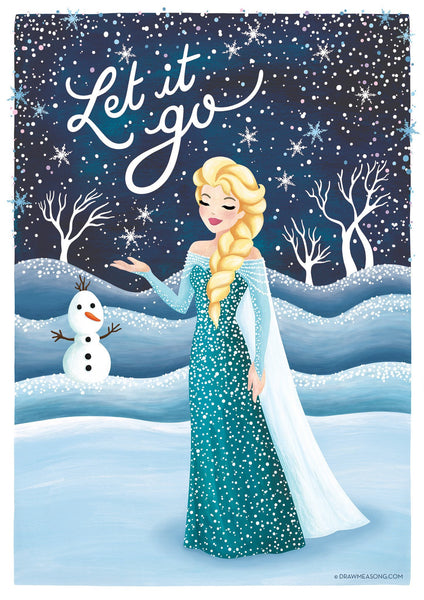 Frozen Elsa Art Print - Draw Me a Song