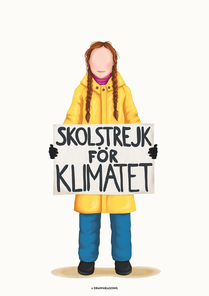 Greta Thunberg Art Print - Draw Me a Song