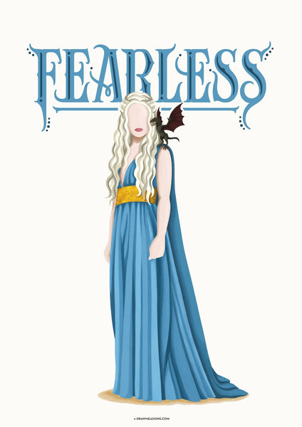 Khaleesi Art Print - Draw Me a Song
