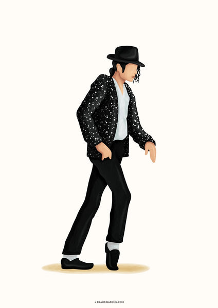 Moonwalk Dance Art Print - Draw Me a Song