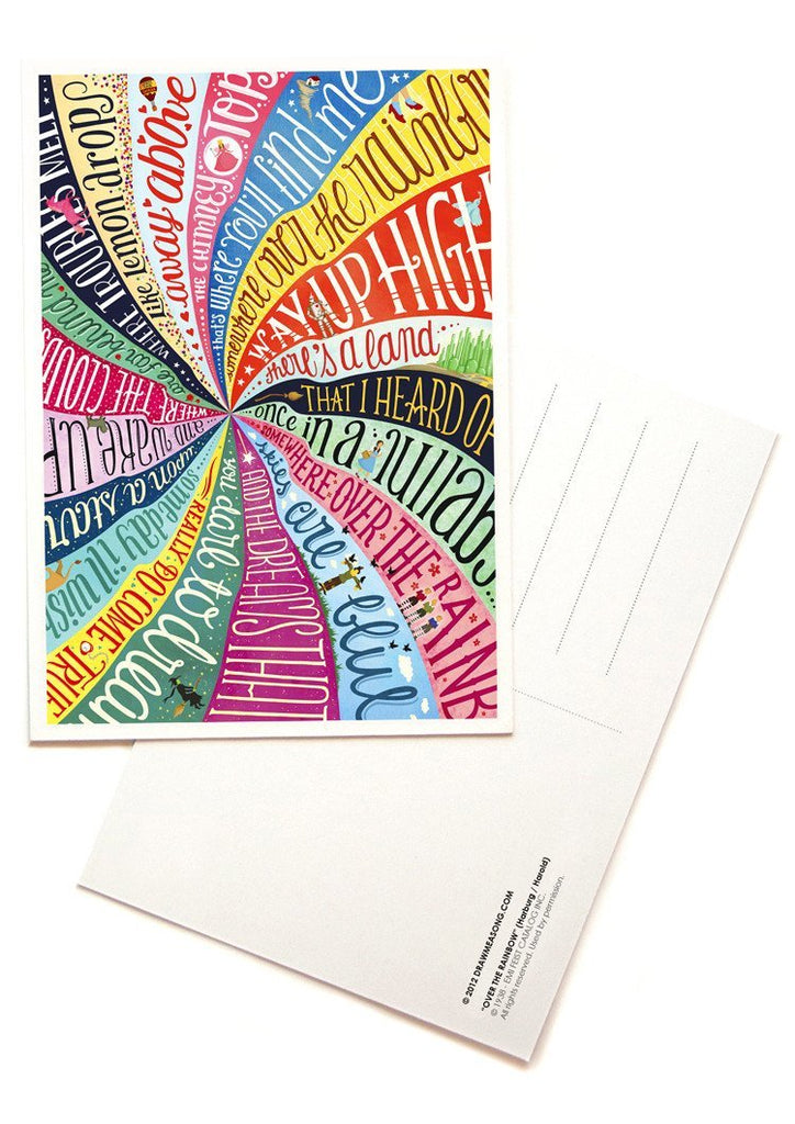 Over The Rainbow Postcards - Draw Me a Song