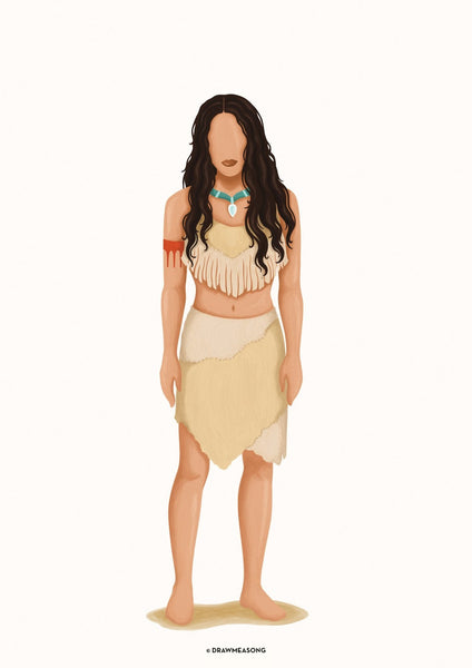 Pocahontas Art Print - Draw Me a Song