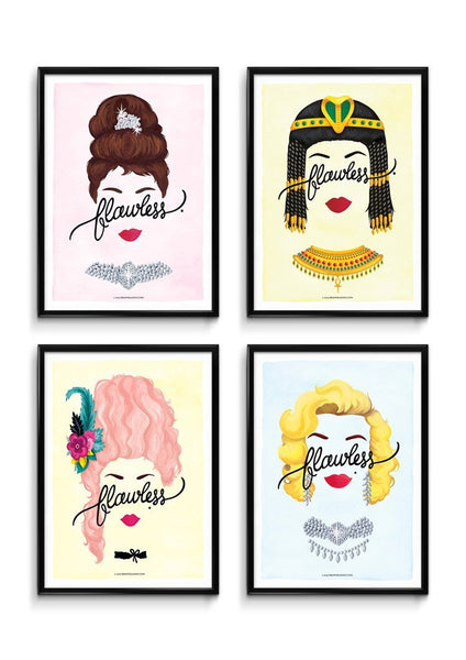 Set of 4 'Flawless' Prints - Draw Me a Song